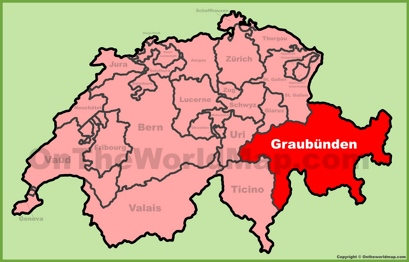 Canton of Graubünden Location Map