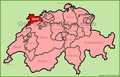 Canton of Jura Location Map