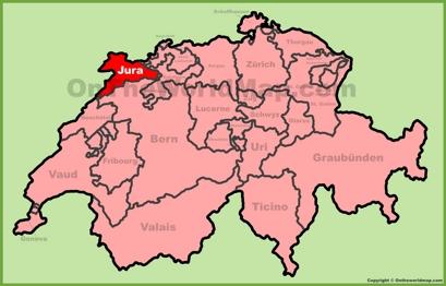 Canton of Jura Location Map