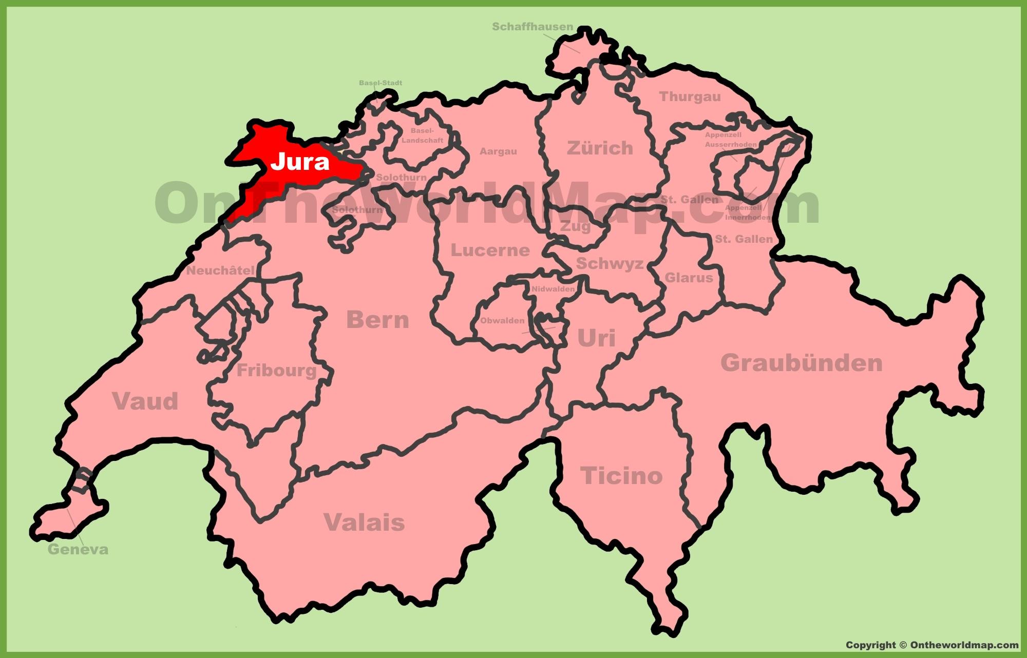 Canton of Jura Maps Switzerland Maps of Canton of Jura