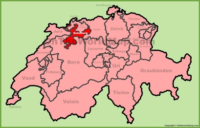 Canton of Solothurn Location Map