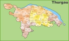 Canton of Thurgau municipality map