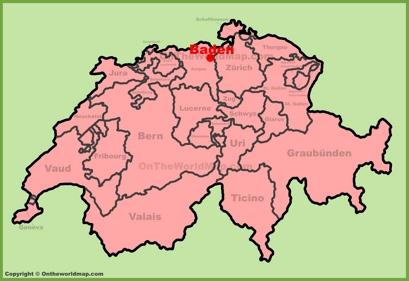 Baden Location Map
