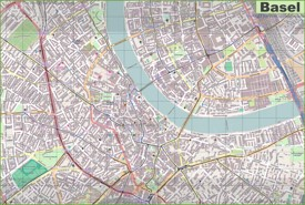Basel city center map
