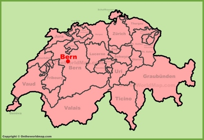 Bern Location Map