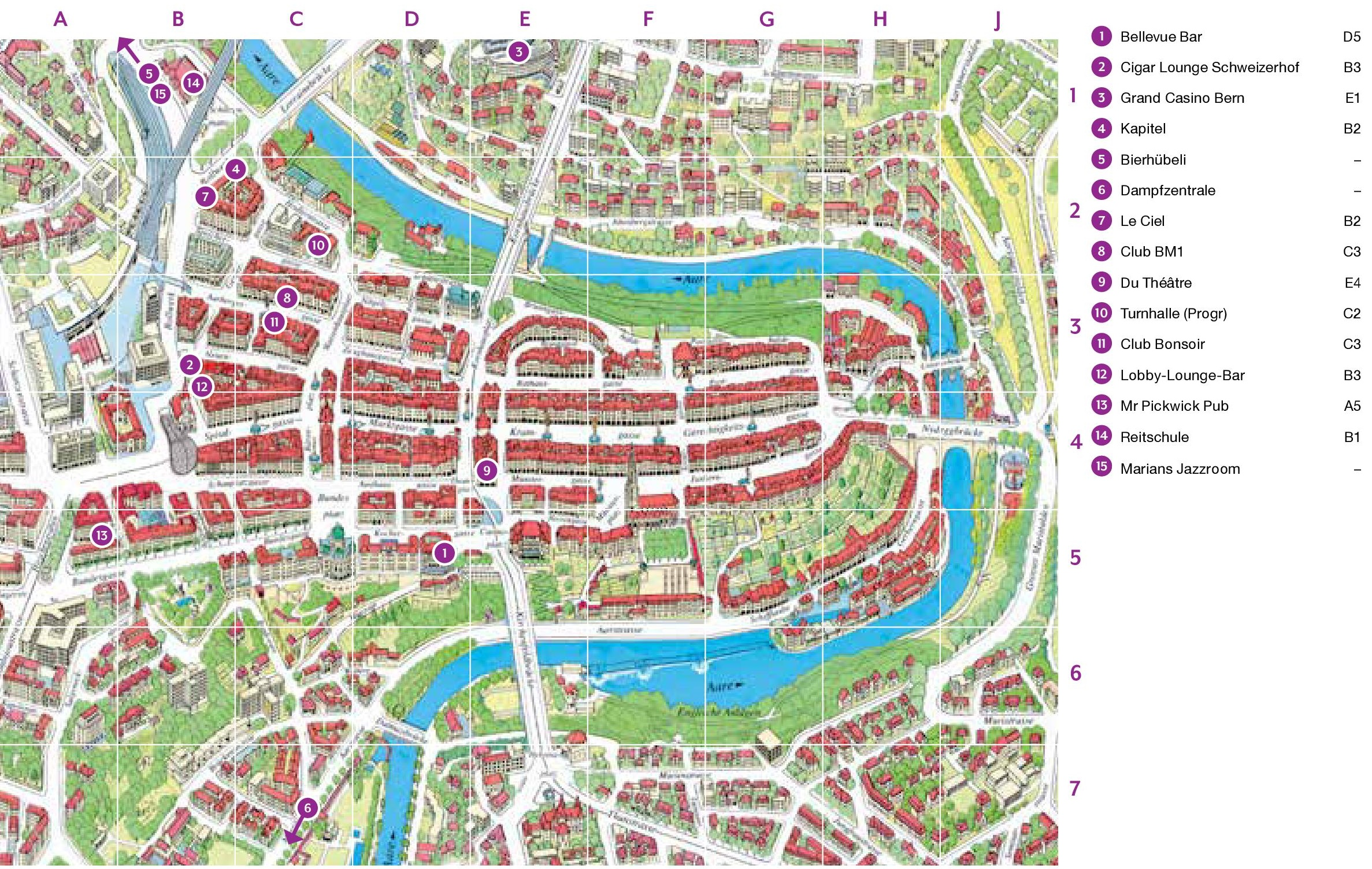Bern city Maps | Switzerland | Maps of Bern (Berne)