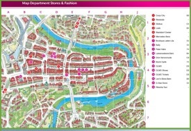 Bern shopping map