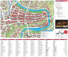 Bern sightseeing map