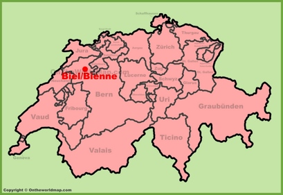 Biel/Bienne Location Map