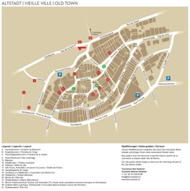 Biel/Bienne old town map