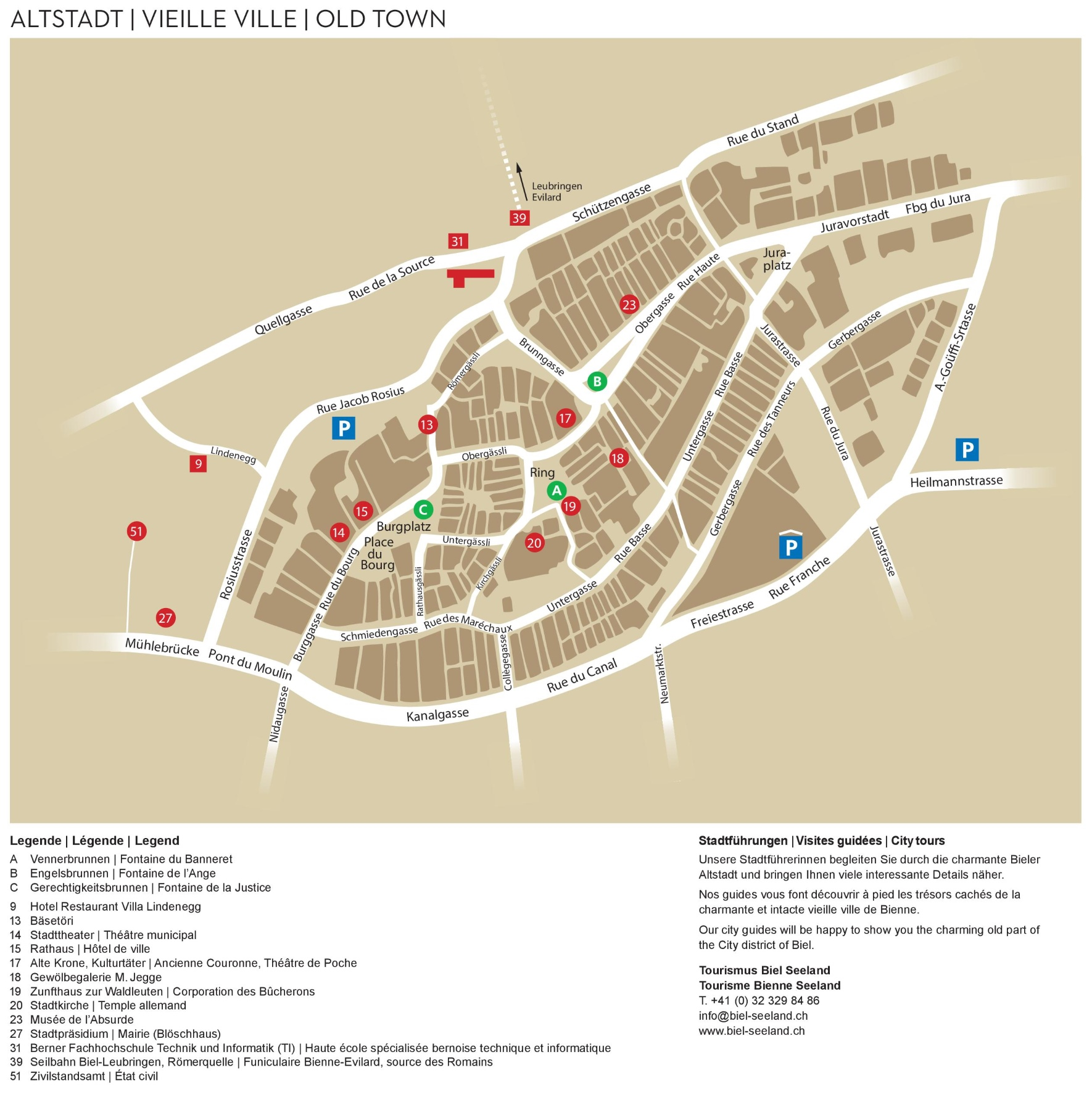 BielBienne old town map