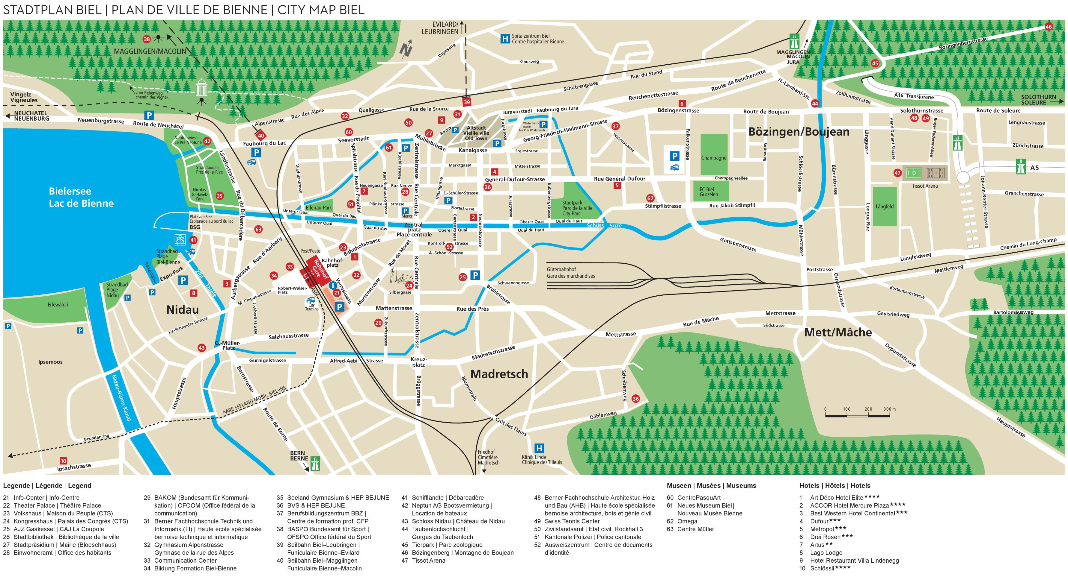 BielBienne tourist map