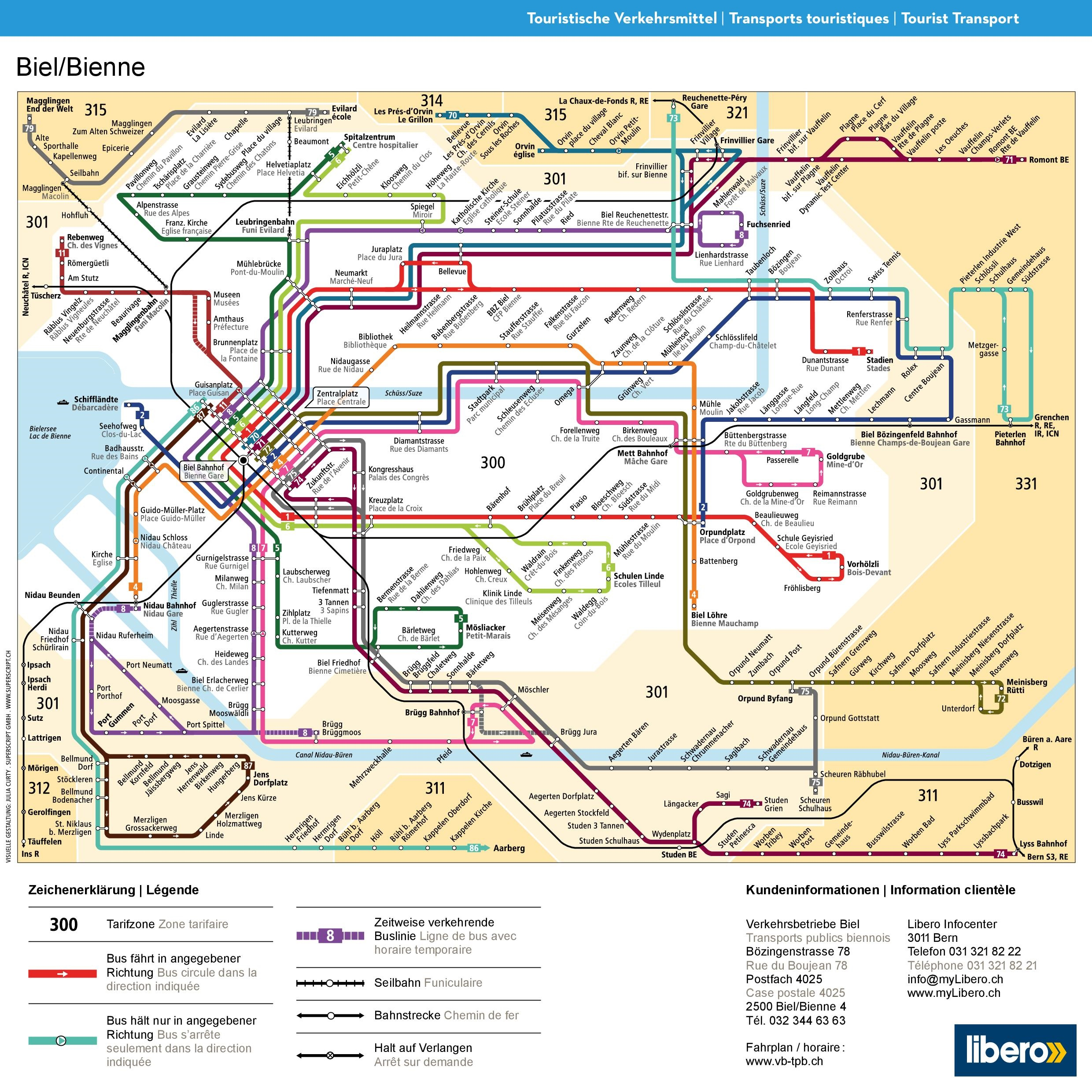 BielBienne transport map