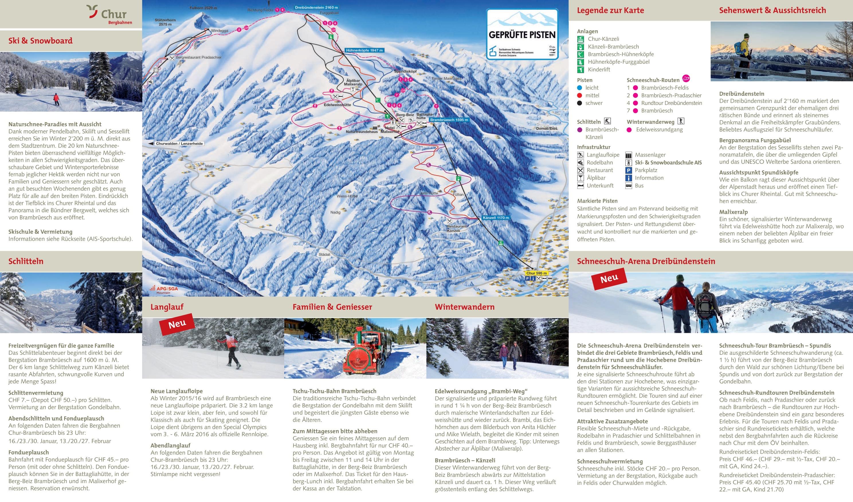 Chur ski map