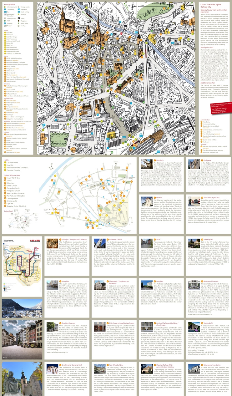 Chur tourist map