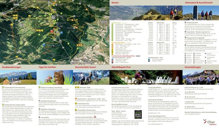 Tourist map of surroundings of Chur
