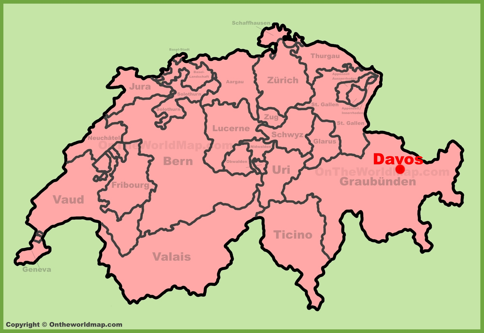 Davos Maps | Switzerland | Maps of Davos