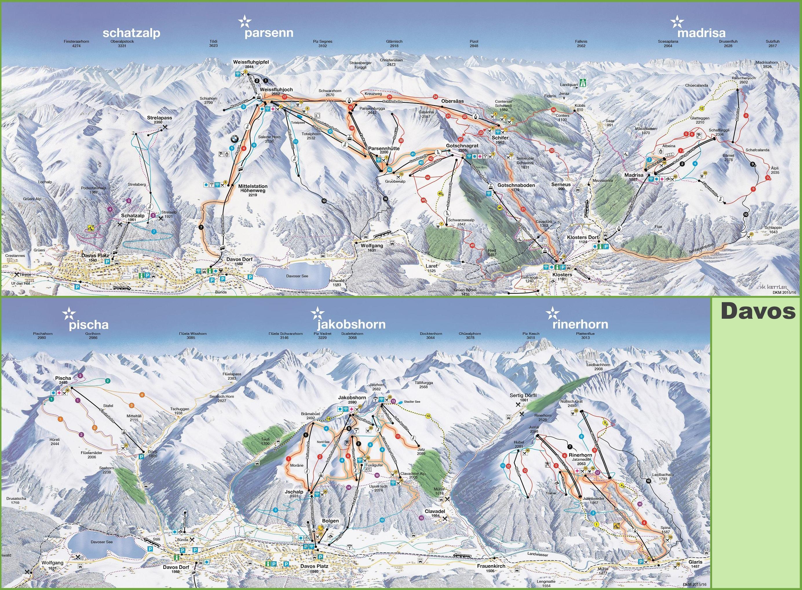 Davos ski map