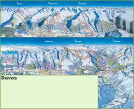 Davos ski resorts map