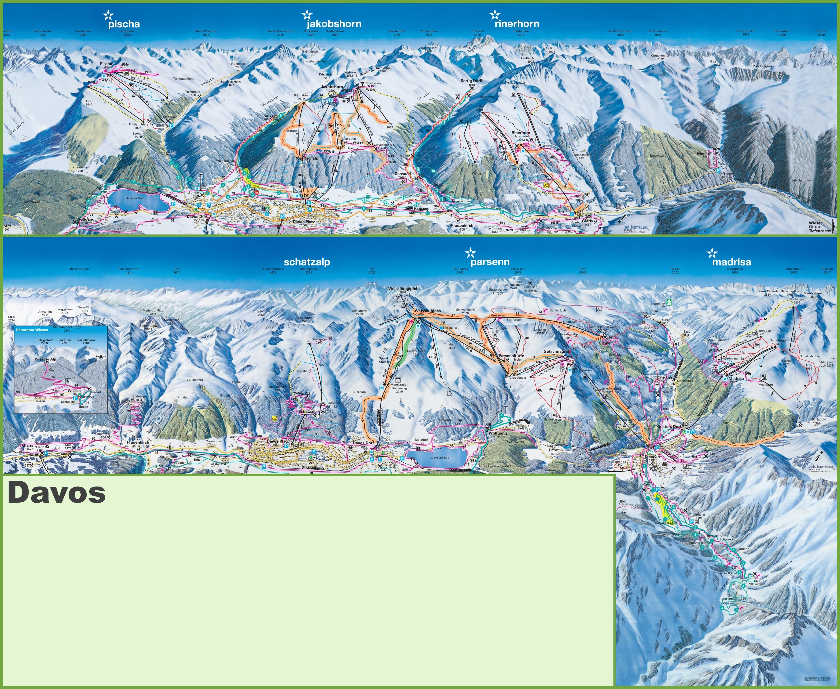 Davos Ski Resorts Map