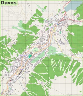 Large detailed map of Davos
