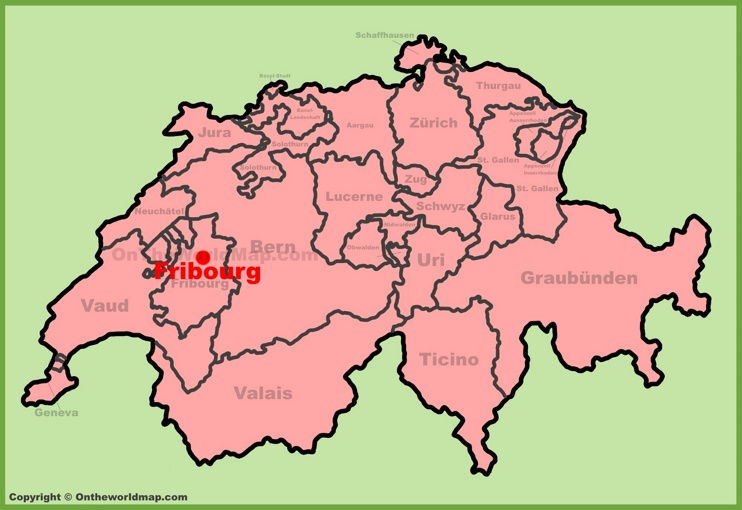 Fribourg location on the Switzerland map