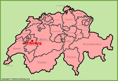 Fribourg Location Map
