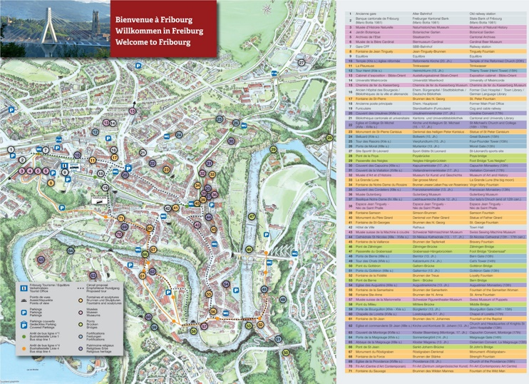 Fribourg tourist map
