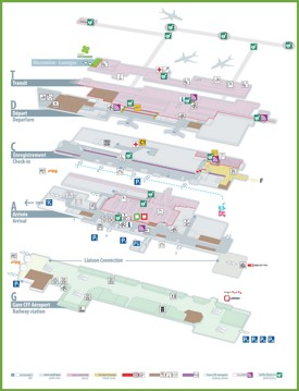 Geneva airport map