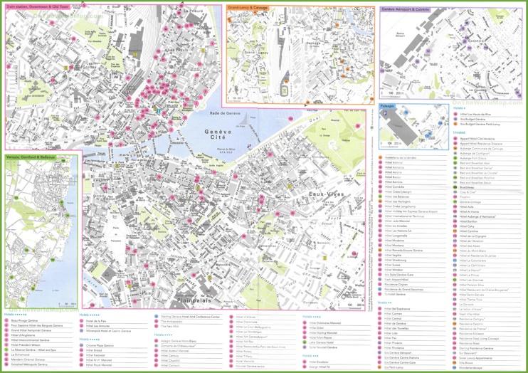 Geneva hotel map