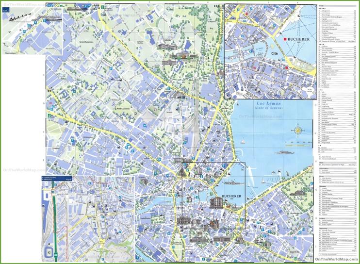Geneva sightseeing map