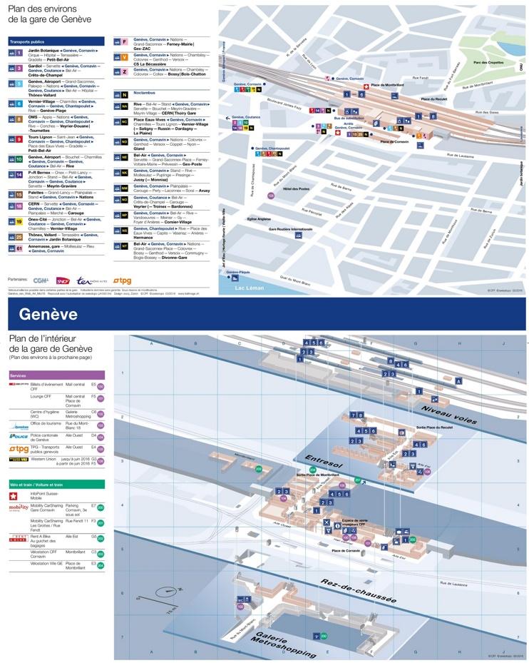 Geneva train station map