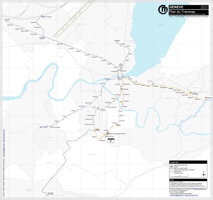 Geneva tramway map