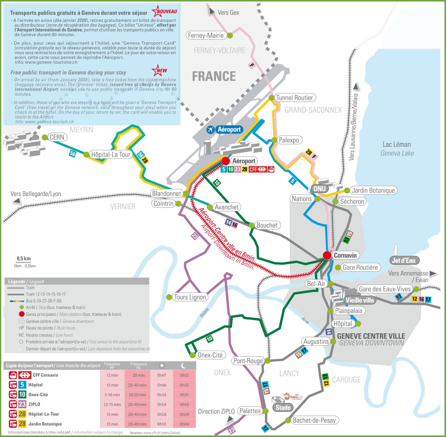 Geneva transport map