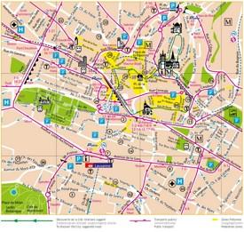 Lausanne city center map