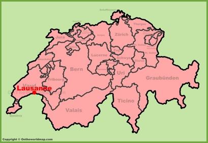 Lausanne Location Map