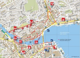 Lucerne city center map