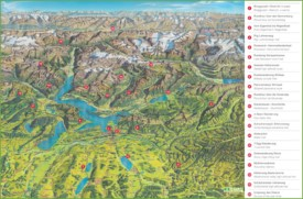 Lucerne hiking tips map