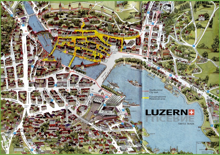 Lucerne sightseeing map
