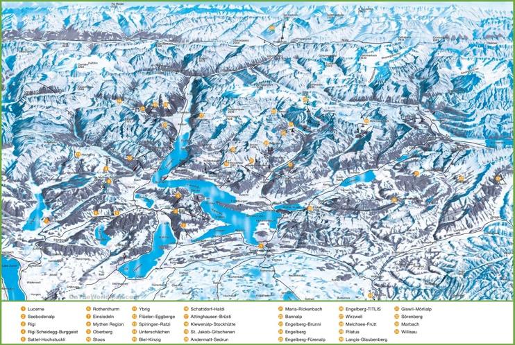 Lucerne ski resorts map