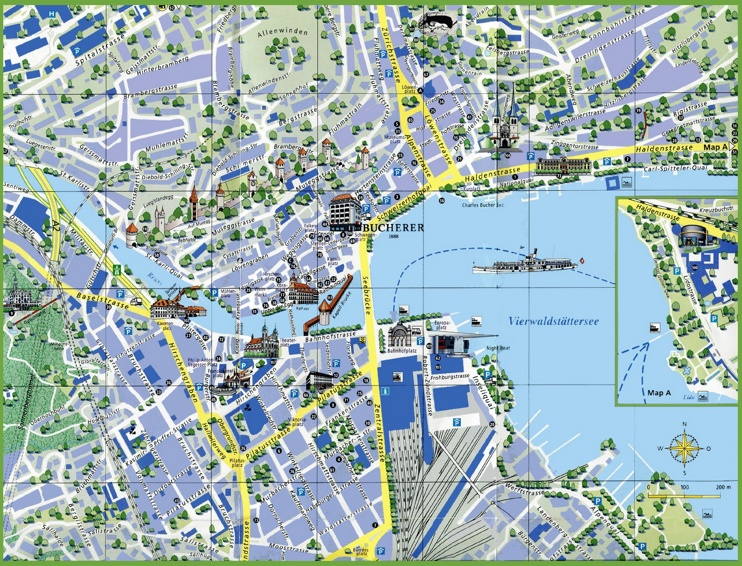 Lucerne tourist attractions map