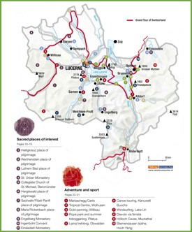 Tourist map of surroundings of Lucerne