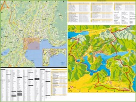 Large detailed tourist map of Lugano