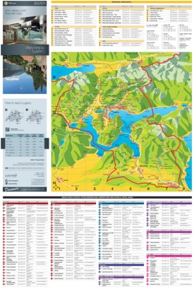 Tourist map of surroundings of Lugano
