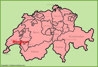 Montreux Location Map