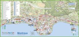 Montreux tourist map