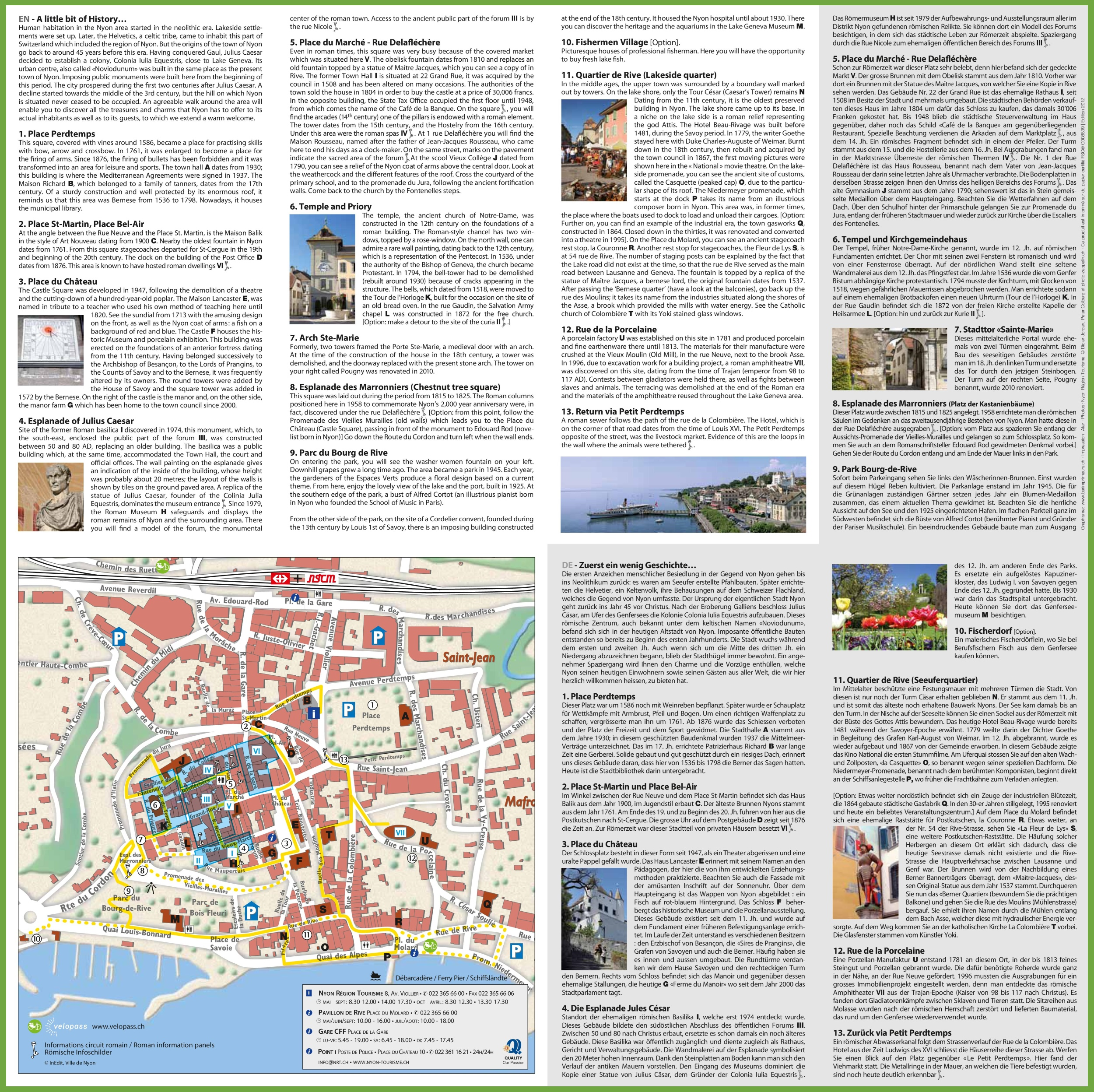 Nyon sightseeing map