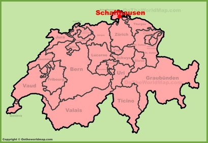 Schaffhausen Location Map