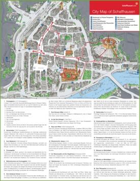 Schaffhausen tourist map