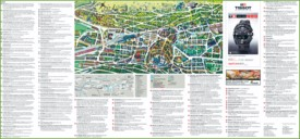 Large detailed tourist map of St. Gallen